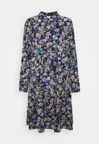 JDYPIPER DRESS - Shirt dress - black iris/purple/parisian blue