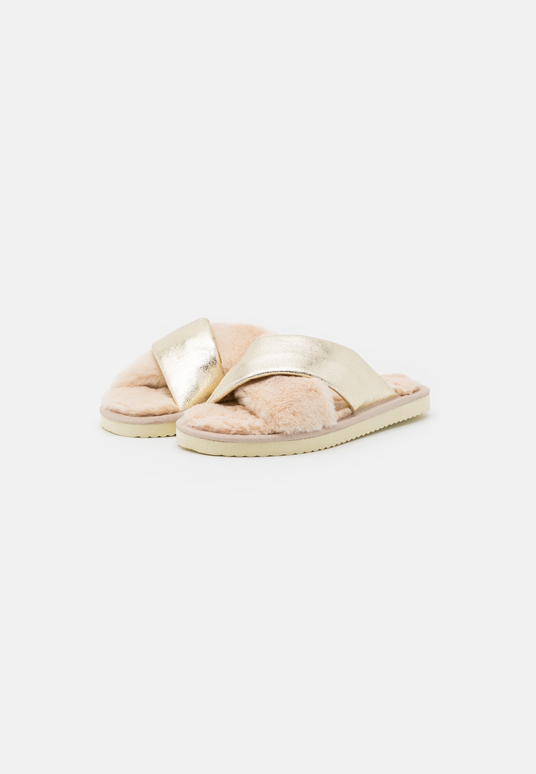 flip*flop CROSS METALLIC Hausschuh coffee latte/gold