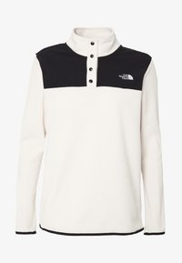 The North Face - GLACIER SNAP NECK - Fleecegenser - vintage white/black