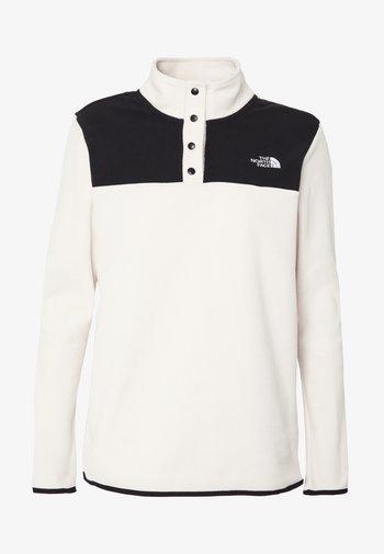 W TKA GLACIER SNAP-NECK PULLOVER - Fleece jumper - vintage white/black