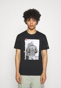 Champion Rochester - CREWNECK - Print T-shirt - black - 0
