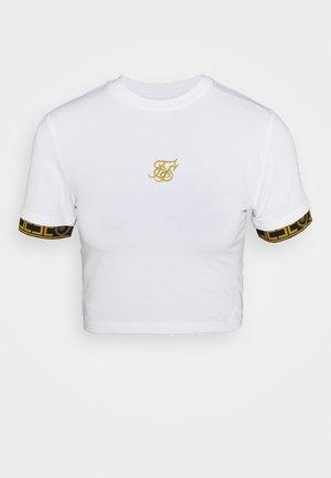 ATHENA CUFF CROP TEE - Print T-shirt - white