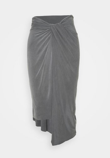 SAMI - Pencil skirt - chrome grey