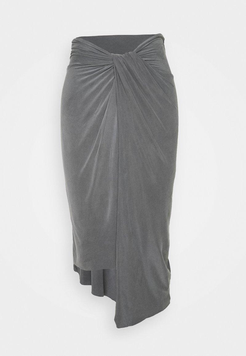 AllSaints - SAMI - Pencil skirt - chrome grey