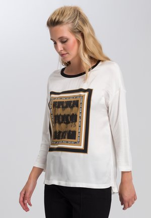 Long sleeved top - off white varied