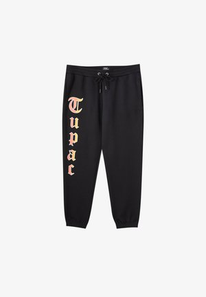 TUPAC - Tracksuit bottoms - black