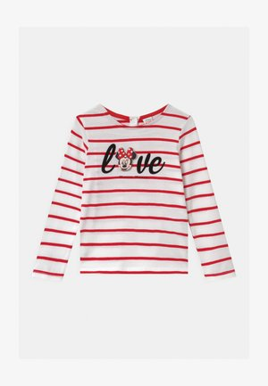 MINNIE - Long sleeved top - white/red