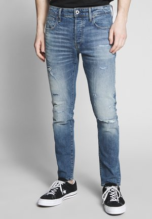 SLIM - Slim fit jeans - denim worn in blue faded