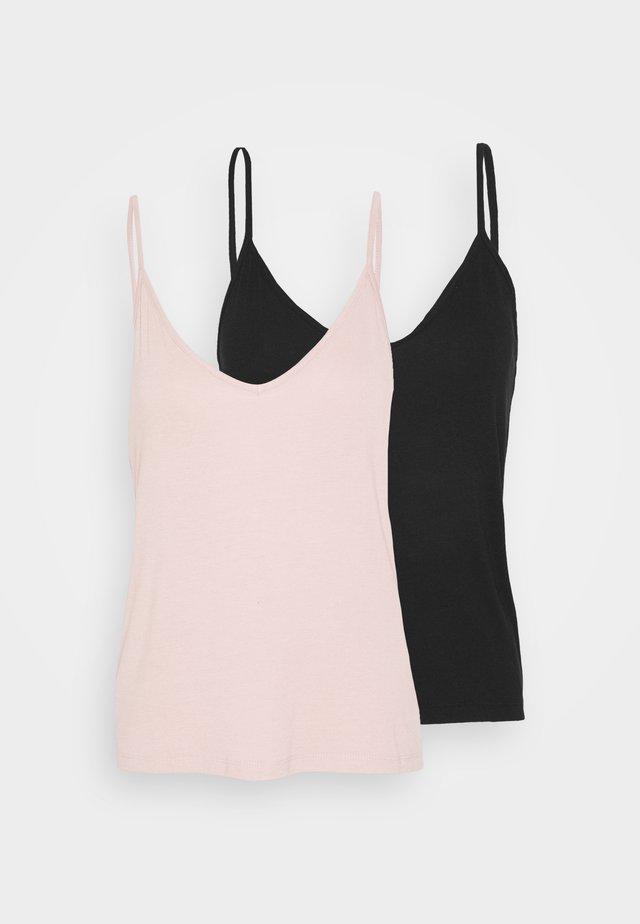 2 PACK - Débardeur - black/pink