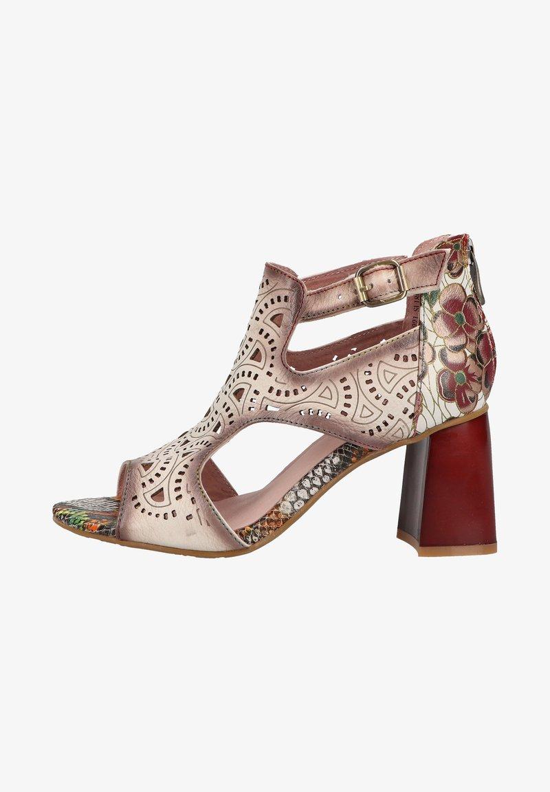 LAURA VITA - Sandalen met enkelbandjes - beige
