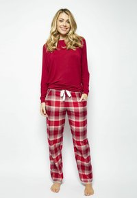 Cyberjammies - Pyjama bottoms - red chks - 1