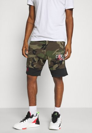 CAMO SHORT - Trainingsbroek - olive/black