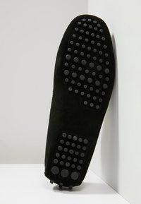 Pier One - LEATHER - Nazouvací boty - black - 4