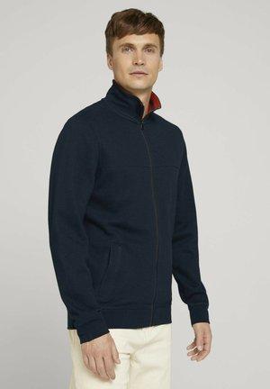 MIT STEHKRAGEN - Sweater met rits - dark blue