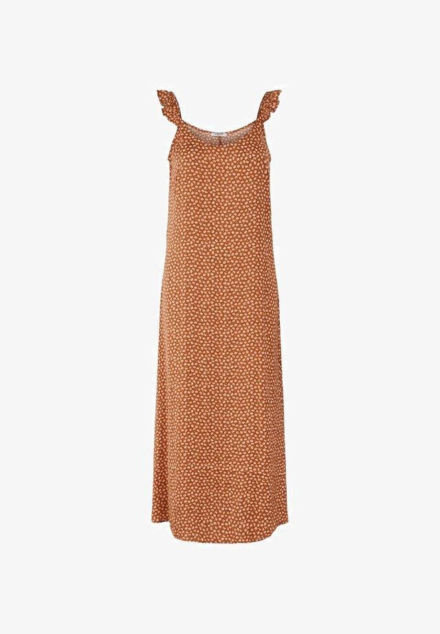Vestido largo - copper brown