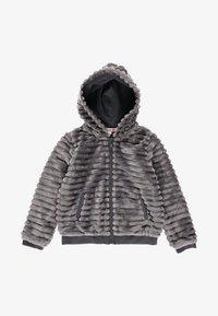 Boboli - MIT FELL UND MÜTZE FÜR MÄDCHEN - Winter jacket - anthracite - 0