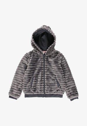 MIT FELL UND MÜTZE FÜR MÄDCHEN - Winter jacket - anthracite