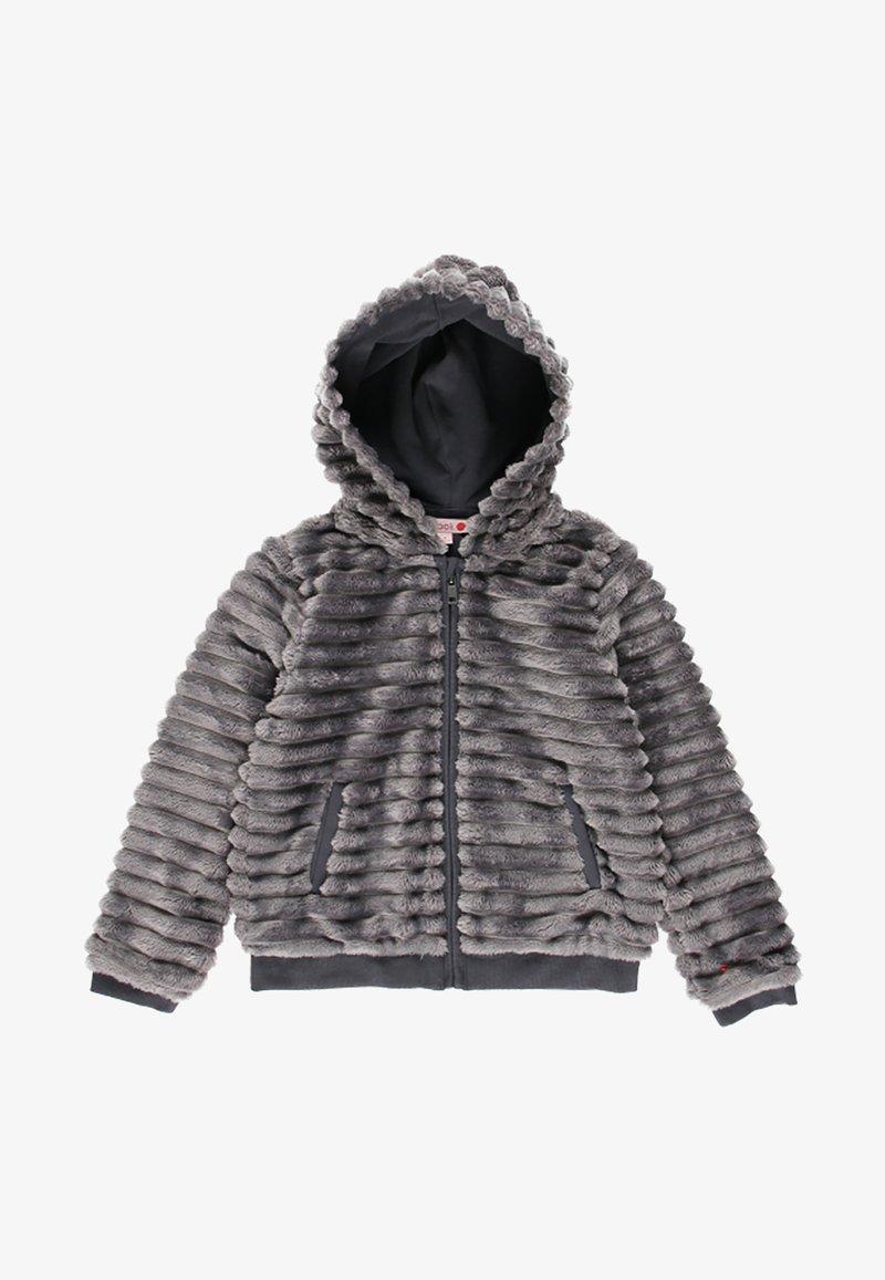 Boboli - MIT FELL UND MÜTZE FÜR MÄDCHEN - Winter jacket - anthracite