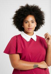 Fashion Union Plus - COLLARED BLOUSE - Bluse - solid bordeaux - 3