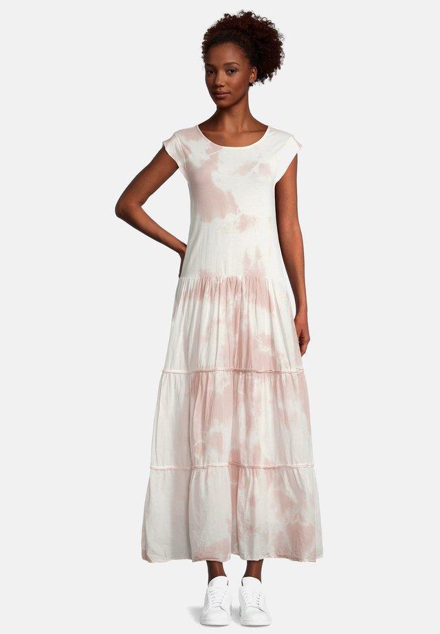 Robe longue - pink/white