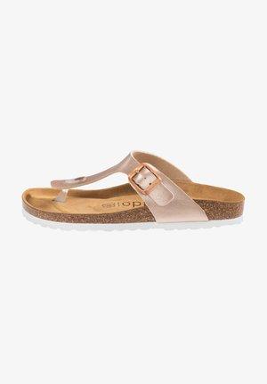 T-bar sandals - rose bronze
