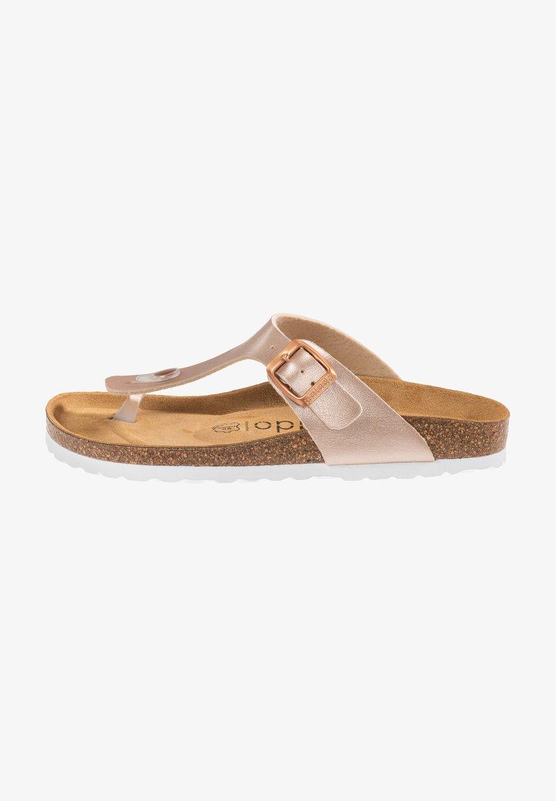 Palado - T-bar sandals - rose bronze