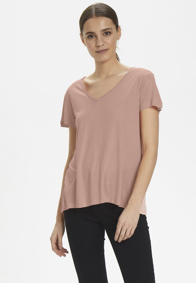 ANNA  - Basic T-shirt - old rose