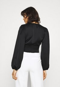 Gina Tricot - VICTORIA BLOUSE - Long sleeved top - black - 2