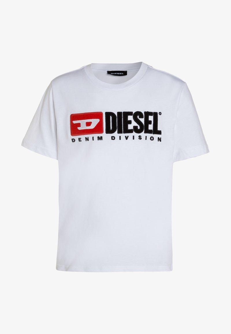Diesel - TJUSTDIVISION MAGLIE - T-shirt con stampa - white