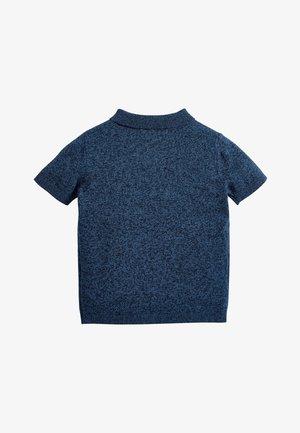 NAVY ARGYLE PATTERN KNITTED POLOSHIRT (3MTHS-7YRS) - Poloshirt - blue
