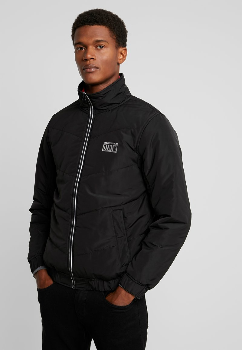 TOM TAILOR DENIM - LIGHT PADDED JACKET - Winter jacket - black/grey