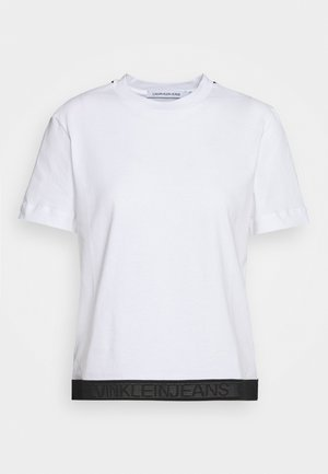 TAPE MODERN STRAIGHT TEE - T-shirt med print - bright white