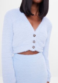 Bershka - FUZZY - Kardigan - light blue