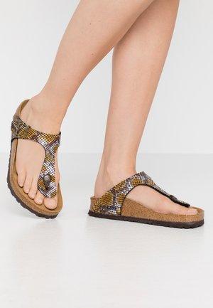 GIZEH - T-bar sandals - brown