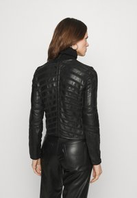 Gipsy - SURI LELEV - Leather jacket - black - 2