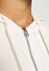 Marc O'Polo - HOODY ZIP FRONT KANGAROO POCKETS GATHERED BACK - Zip-up sweatshirt - white sand - 4