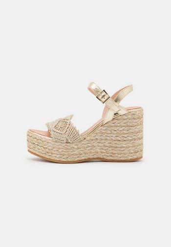 FALI - Platform sandals - metal oro