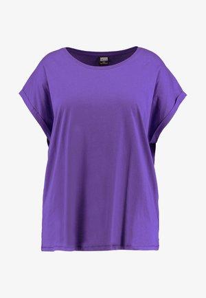 LADIES EXTENDED SHOULDER TEE - Basic T-shirt - ultraviolet