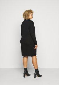 Evans - COWL DRESS - Pletené šaty - black - 2