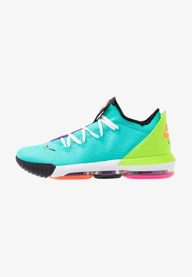 LEBRON XVI LOW - Basketball shoes - hyper jade/total orange/electric green/black