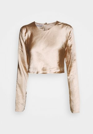 WILD FLOWERS BUTTON CUFF BLOUSE - Bluser - rose gold