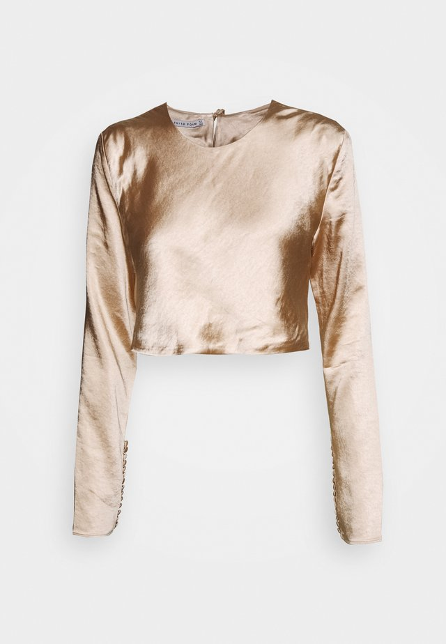 WILD FLOWERS BUTTON CUFF BLOUSE - Camicetta - rose gold