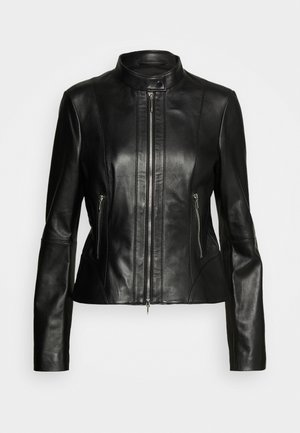 LONIA - Leather jacket - black