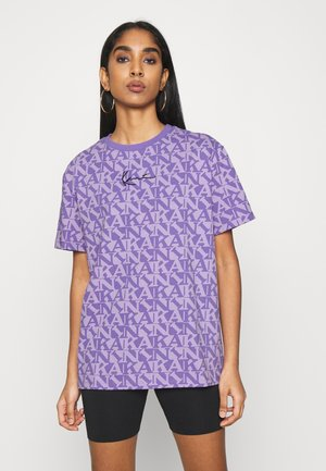 SMALL SIGNATURE OVERSIZE TEE  - Print T-shirt - lilac