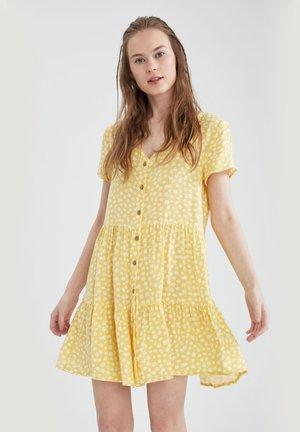 FLOWER PRINT - Day dress - yellow
