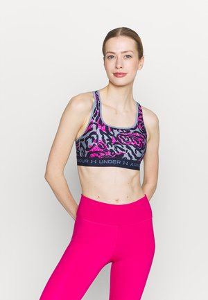 CROSSBACK MID PRINT - Medium support sports bra - mineral blue