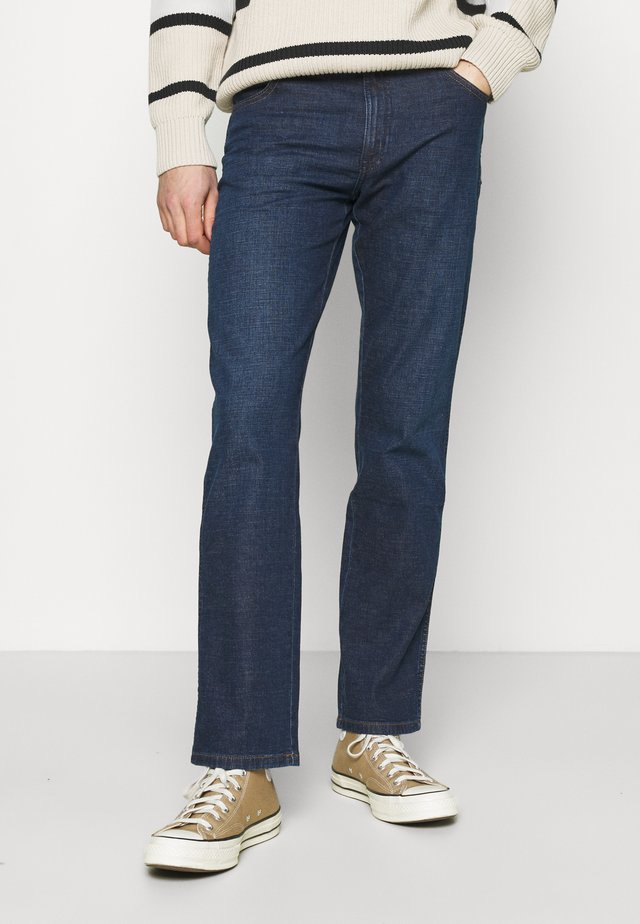 TEXAS - Straight leg jeans - blue denim/dark blue
