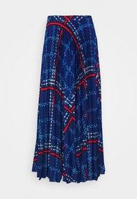 GANT - SIGNATURE WEAVE PLEATED SKIRT - Maxi skirt - crisp blue - 1
