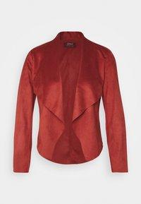 ONLY Petite - ONLFLEUR JACKET PETITE - Faux leather jacket - red ochre - 4