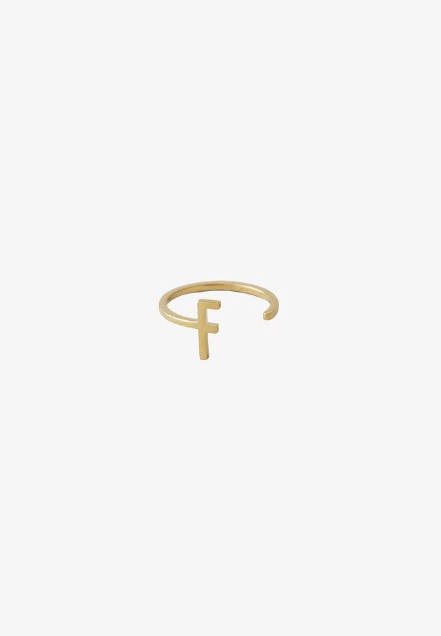 RING F - Ring - gold